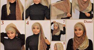 صوره طرق لف الحجاب , الطرق المختلفه للف الحجاب