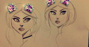 رسومات بنات سهله , بالصور احلى رسومات بنات سهله