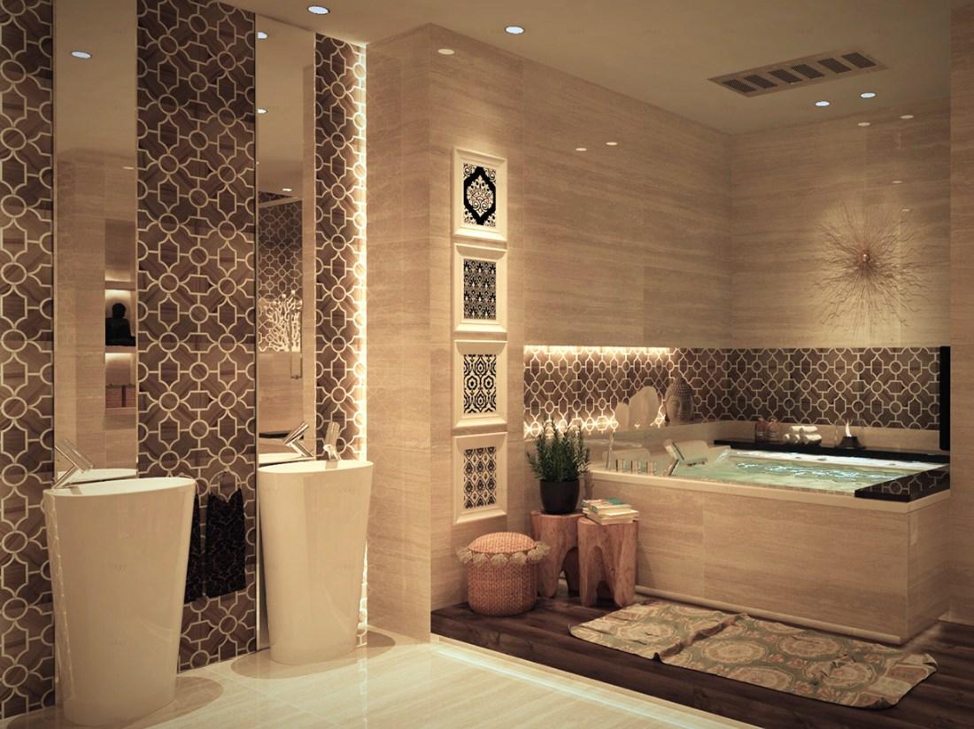 بالصور ديكورات حمامات بسيطة , بالصور احدث ديكورات حمامات جديده 35 16