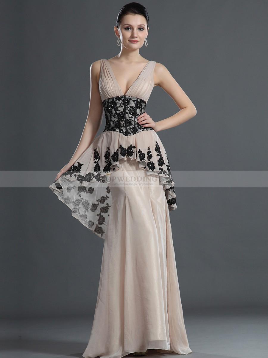 بالصور موديلات فساتين سهرة , انتى الاجمل عندما ترتدى هذا الفستان 1807 2