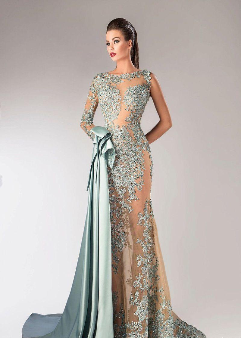 بالصور موديلات فساتين سهرة , انتى الاجمل عندما ترتدى هذا الفستان 1807 7