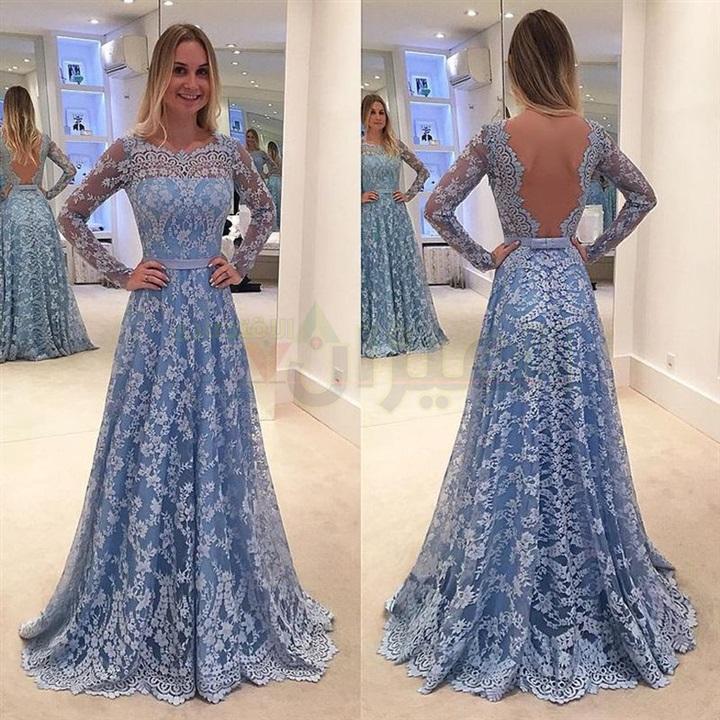 بالصور موديلات فساتين سهرة , انتى الاجمل عندما ترتدى هذا الفستان 1807 8