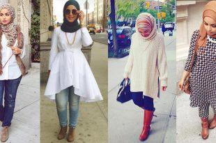 صور اخر صيحات الموضة للمحجبات , احدث صيحات ملابس للمحجبات