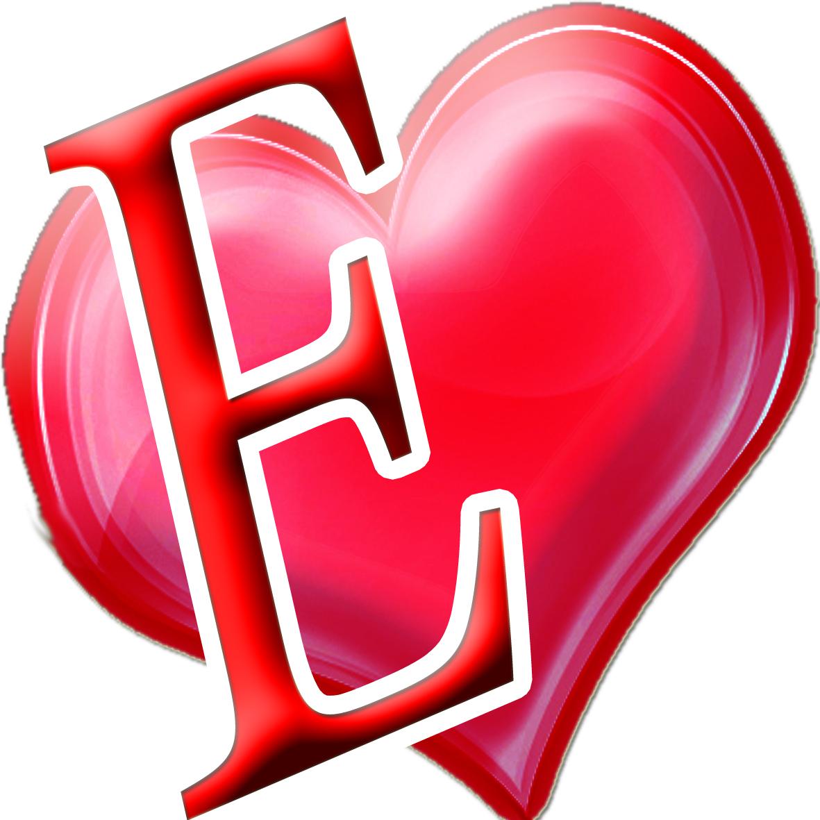 حرف E على شكل قلب اجمل خلفيات 4 2