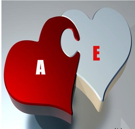 صور حرف e على شكل قلب , اجمل خلفيات الحروف الجديده