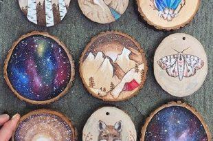 صور رسومات على الخشب , ابداع الرسم والنقش على الاخشاب
