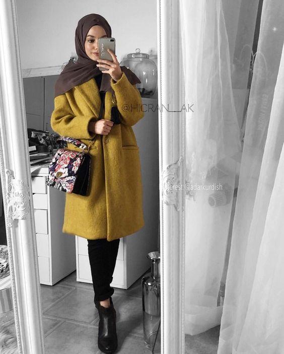 صورة ازياء شتويه للمحجبات , افخم ملابس الشتاء للفتيات المحجبة