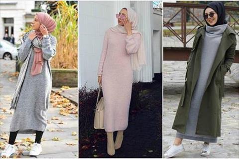 صور اجمل ثياب للمحجبات , المراة رمزا للاناقة