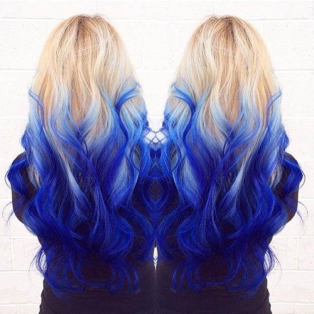 صور صبغ الشعر باللون الازرق , غيري وجددي لون شعرك يا جميلة