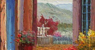 لوحات زيتية لمناظر طبيعية , الفن الجميل والطبيعة على لوحة