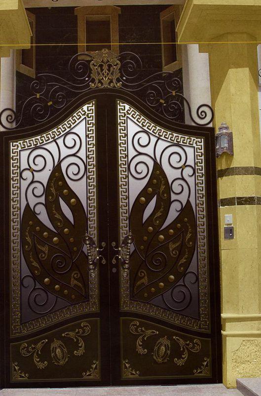 صورة اجمل الوان ابواب الحديد , تعالي شوفي كدة معانا الوان جديدة من الابواب للبيوت 3892 4