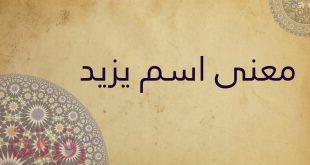 معنى اسم يزيد , سمي ابنك باسم جديد وله معني كبير