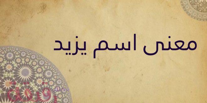 صورة معنى اسم يزيد , سمي ابنك باسم جديد وله معني كبير