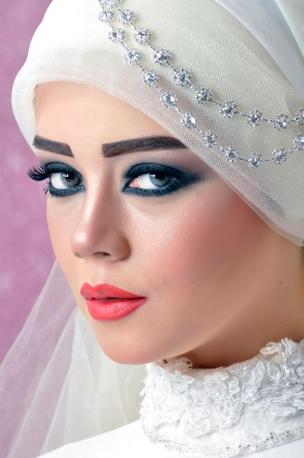صورة صور عرايس محجبات , موديلات فستان زفاف محجبات