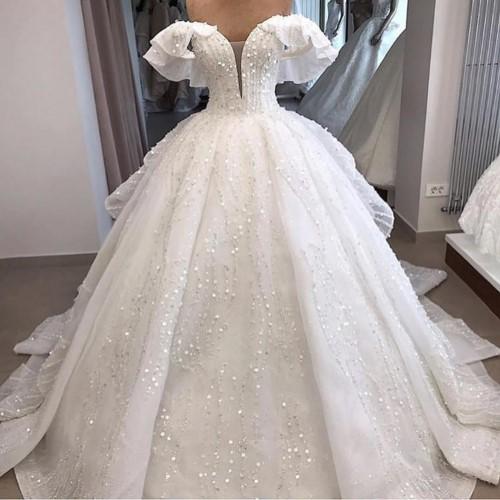 صورة احدث فساتين الزفاف , صور فساتين زفاف موضه 2019 1267 20