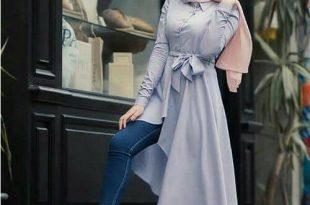 صورة لبس محجبات , موضه ملابس محجبات لصيف 2019