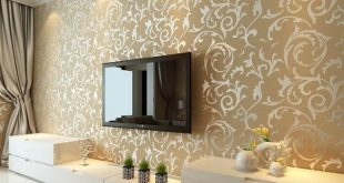 صورة ورق جدران فخم , تصاميم ورق حوائط عصريه