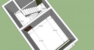 خريطة منزل 50 متر , خريطه منزل للمساحات الصغيره