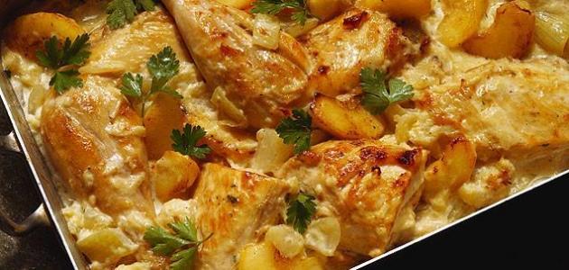 صورة بطاطا كوشة بالدجاج في الفرن , بالتتبيلة السحرية الذ واطيب اكلة 8472 5