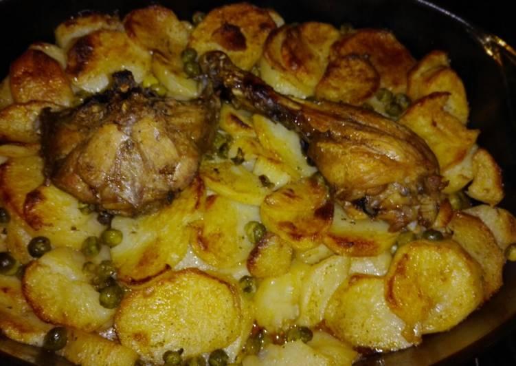صورة بطاطا كوشة بالدجاج في الفرن , بالتتبيلة السحرية الذ واطيب اكلة 8472 7