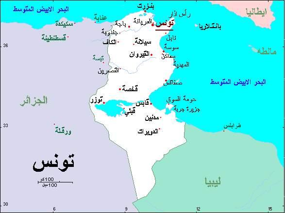 صورة خريطة تونس بالقمر الصناعي , شاهد منزلك من خلال القمر الصناعى