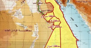خريطة صعيد مصر , خريطة محافظات مصر