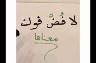 صورة معنى لا فض فوك , معاني ومرادفات في المعجم العربي