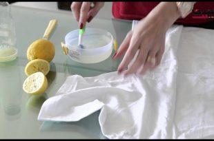 صورة كيفية ازالة البقع من الملابس , طريقة لازالة البقع من الهدوم بسرعه