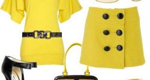 فستان اصفر وش يناسبه جزمه , صور فساتين باللون الاصفر الجرئ