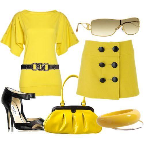 صورة فستان اصفر وش يناسبه جزمه , صور فساتين باللون الاصفر الجرئ