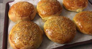 طريقة عمل خبز الهمبرجر في البيت بالصور ,اشهى والذ الاكلات
