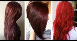 اجمل وافضل الوان الصبغات للشعر,لون شعر احمر ناري