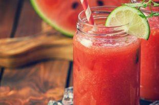 صورة اسهل الطرق لصنع العصائر , طريقة عصير البطيخ