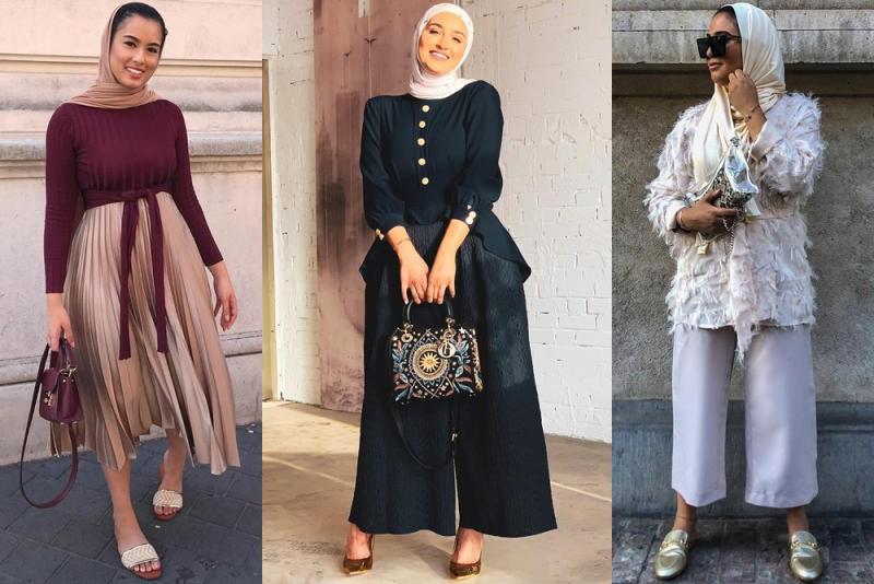 صورة اجمل فتيات بالحجاب , ملابس محجبات للسهرة