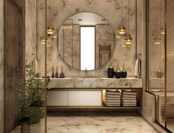 حمامات صغيرة افضل تصميم ديكور حمام صغير المرأة العصرية