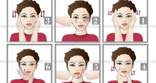 طريقة تدليك الوجه , مساج للوجه