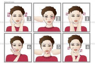 صورة طريقة تدليك الوجه , مساج للوجه