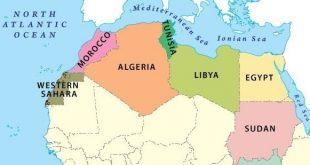 خريطة شمال افريقيا