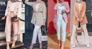 صورة موديلات ستايلات رائعه للمحجبات، ملابس كلاسيك للمحجبات 6385 10 310x165